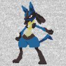 Pixel Lucario by bowlol