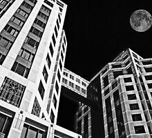 Moon Over Twin Towers #2 by Samuel Sheats