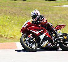 Red Yamaha superbike by Eduardo Montañez