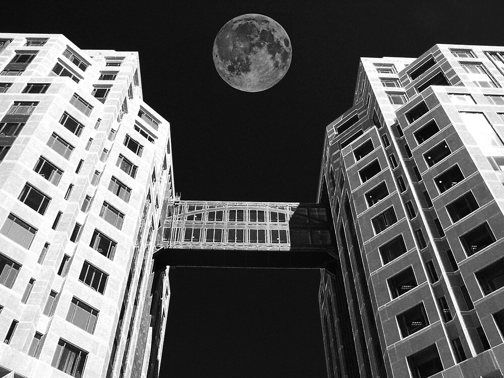 Moon Over Twin Towers #1 by Samuel Sheats