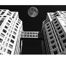 Moon Over Twin Towers #1 Photographic Print