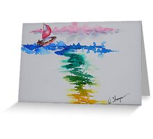 Against The Wind Greeting Card