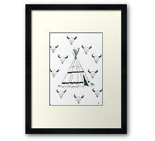 Tee Pee Framed Print