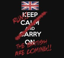 The British Are Coming! (white text) One Piece - Short Sleeve