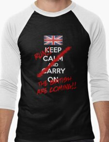 The British Are Coming! (white text) Men's Baseball ¾ T-Shirt