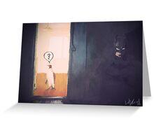 Batman and penguin Greeting Card