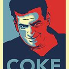 "Charlie Sheen Coke ""Hope Poster"" by BUB THE ZOMBIE"