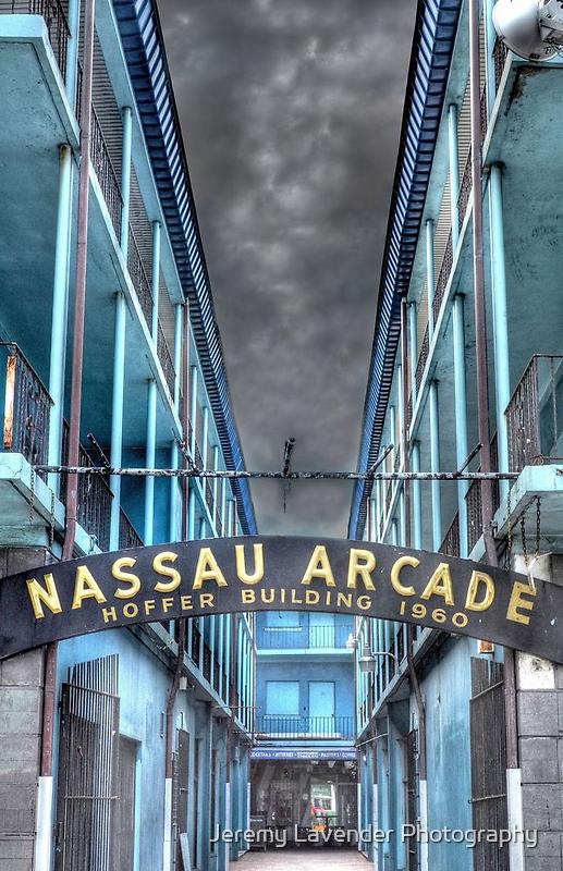 Nassau Arcade on Bay Street in Nassau, The Bahamas by Jeremy Lavender Photography
