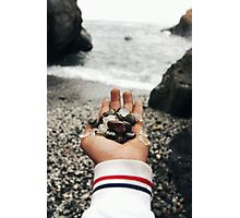 A Hand full of Glass Photographic Print