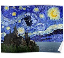 A Starry Night Hogwarts Time Travel Poster