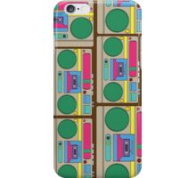 Retro Colorful Boombox Pattern iPhone Case/Skin