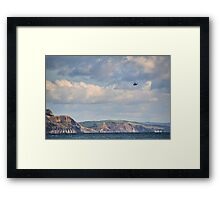 Helicopter Leaving Lyme  Framed Print