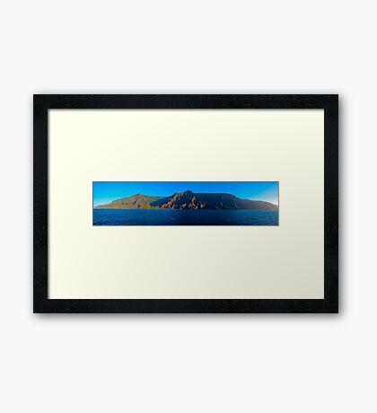 Napali Coast Panorama Edited Framed Print