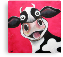 Mrs Cow Canvas Print