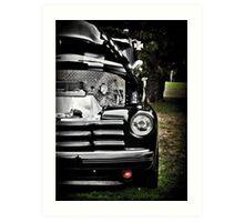 HDR Vintage Black Chevy Art Print