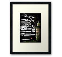 HDR Vintage Black Chevy Framed Print