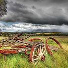 Old Wagon Near The Stirlings by Eve Parry