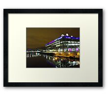 Glasgow at night, BBC Building Framed Print
