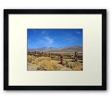 The West Framed Print