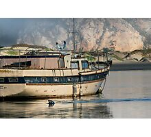 Old Boat and Wildlife, Moro Bay Photographic Print