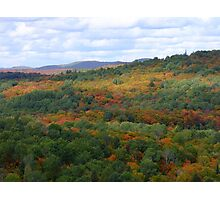 The View Atop The Lookout Trail Sept 26 2012- Algonquin Provincial Park Photographic Print