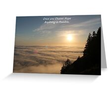 choose hope Greeting Card