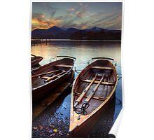 Derwent Water Sunset Poster