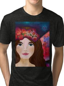 Night Fairy with multicolor wings Tri-blend T-Shirt