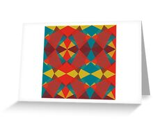 Triangular brushed pattern #3 Greeting Card