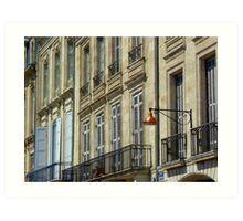 Streetscape III - Quai des Chartrons, Bordeaux Art Print