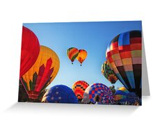 Blue Skies & Balloons, Balloon Festival, Statesville, NC Greeting Card