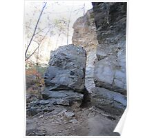 Cutting Edge rock face  Poster