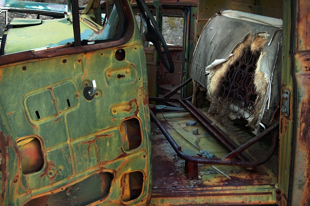 Oxidized Car, Driver's Seat by Jeannette Katzir