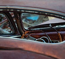 Oxidized Car, Steering Wheel by Jeannette Katzir