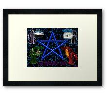 EARTH, AIR, FIRE, WATER Framed Print