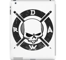 Draw Everyday - Artsy Vector Skull based Design (Black and White) iPad Case/Skin