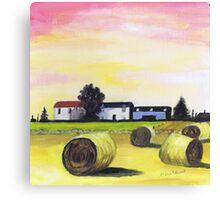 Farm near Foveran Canvas Print