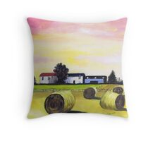 Farm near Foveran Throw Pillow