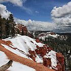 Red Rock and Snow by Bill D. Bell