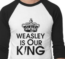 Weasley is our king - black Men's Baseball ¾ T-Shirt