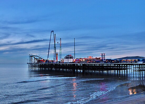Dusk at South Pier  by Lilian Marshall