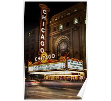Chicago Theatre Evening, Chicago, IL - 2 Poster