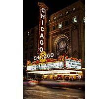 Chicago Theatre Evening, Chicago, IL - 2 Photographic Print