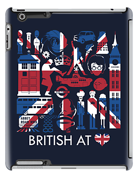 British @ Heart | iPad Case by Tom Trager