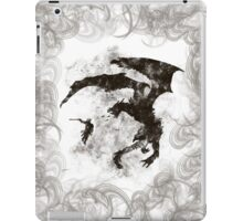 Dragonfight-cooltexture B&W iPad Case/Skin
