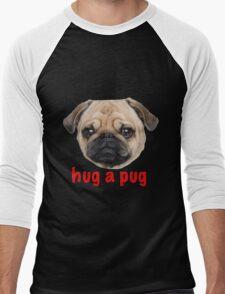 Pug hug Men's Baseball ¾ T-Shirt