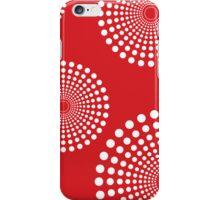circular spots - red + white iPhone Case/Skin