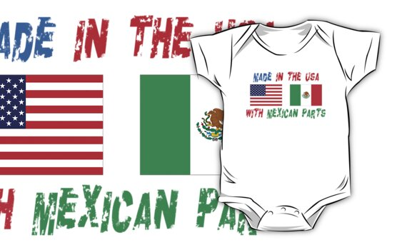 American Made With Mexican Parts by HolidayT-Shirts