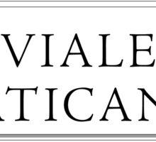 Viale Vaticano, Rome Street Sign, Italy Sticker