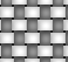 Gray & White Weave by TinaGraphics